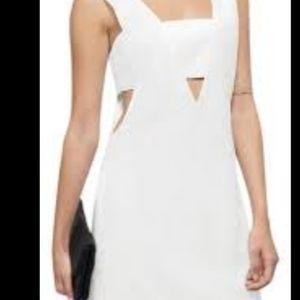 Tobi NWT Marshall cutout dress large white
